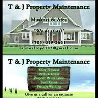 T & J Property Maintenance logo