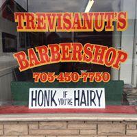 Trevisanut's Barbershop logo