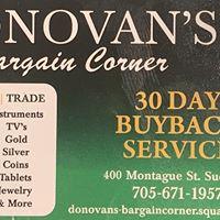 Donovan's Bargain Corner logo