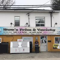Mom's Fries & Variety logo