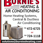 Burnie's Heating & Air Conditioning logo