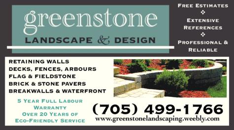 Print Ad of Greenstone Landscape & Design