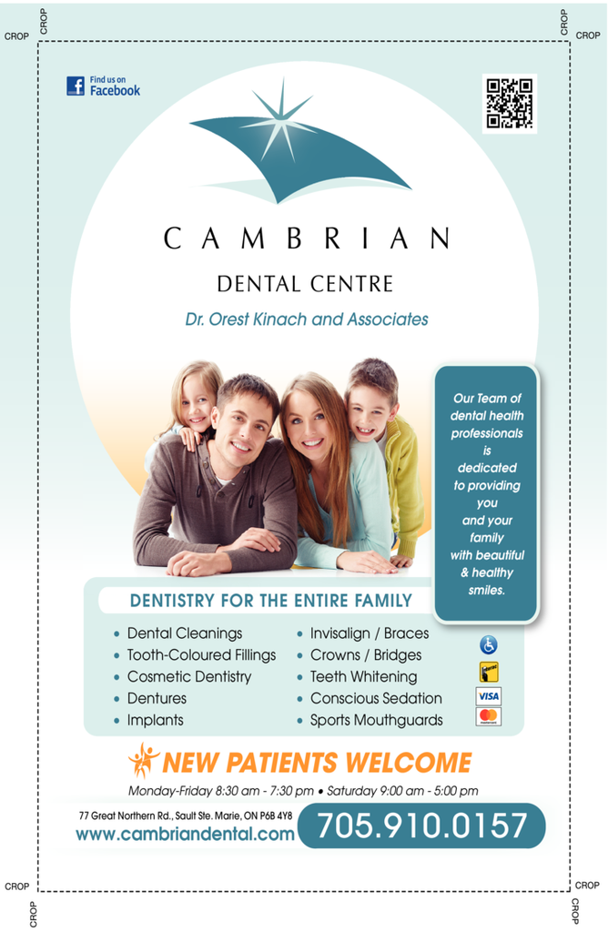 Yellow Pages Ad of Cambrian Dental Centre