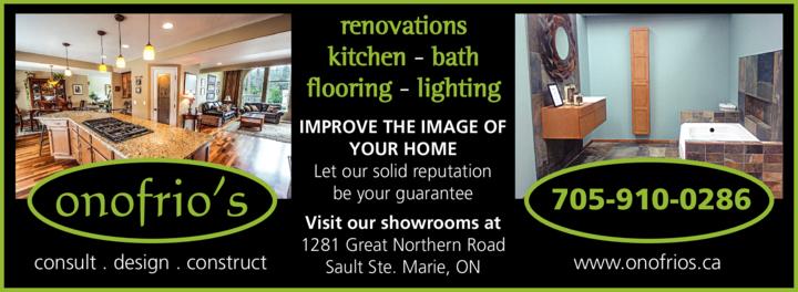 Print Ad of Onofrio's Kitchen Bath Flooring & Lighting