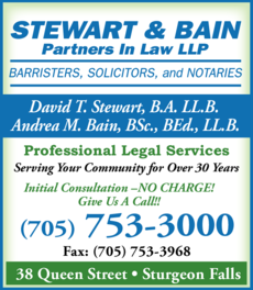 Print Ad of Stewart & Bain Partners In Law Llp