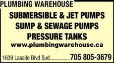 Print Ad of Plumbing Warehouse
