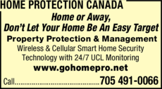 Print Ad of Home Protection Canada