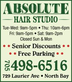 Print Ad of Absolute Hair Studio