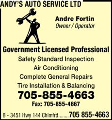 Print Ad of Andy's Auto Service Ltd