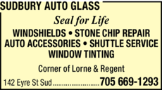 Print Ad of Sudbury Auto Glass