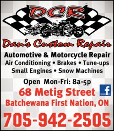 Print Ad of Dan's Custom Repair