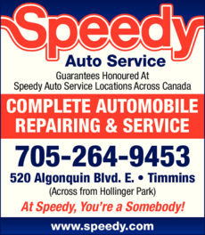 Yellow Pages Ad of Speedy Auto Service