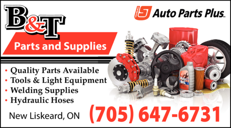 Print Ad of B & T Parts And Supplies
