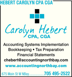 Yellow Pages Ad of Hebert Carolyn Cpa Cga