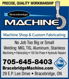 Print Ad of Bracebridge Machine