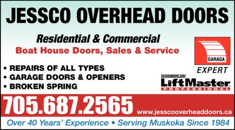 Print Ad of Jessco Overhead Doors