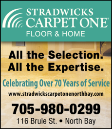 Print Ad of Stradwick's Carpet One